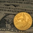 Stock Photo: A coin ten dollar gold