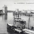 Old postcard, La Rochelle, general view of the harbor — Stock Photo