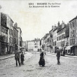 Stock Photo: Old postcard, Issoire, Boulevard of barracks