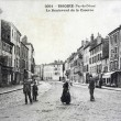 Old postcard, Issoire, Boulevard of the barracks — Stock Photo