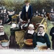 Stock Photo: Old postcard, Breton wedding