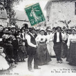 Old postcard, The village feast — Foto de Stock