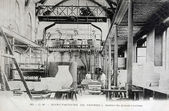 Old postcard, Sevres, great casting workshop — Stock Photo