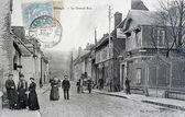 Carte postale ancienne, grand-rue de blangy-sur-bresle — Photo