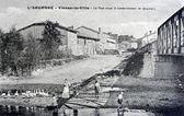 Old postcard, Vienne-la-Ville, after bombardment — Stock Photo