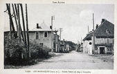 Old postcard, Les Barraques, entry road from Gap to Grenoble — Stock Photo