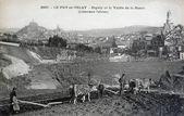Carte postale ancienne, le puy-en-velay, espaly et la vallée de la né — Photo