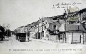 Old postcard, Rochecorbon, Road Tours — Stock Photo