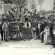 Old postcard of Tarascon, the procession of Tarasque — Photo