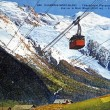 Old postcard of Chamonix, cable car, view of the Mont Blanc — Stock Photo #36308973