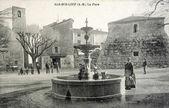 Staré pohlednice bar-sur-loup, náměstí — Stock fotografie