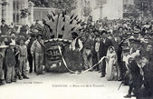 Old postcard of Tarascon, the procession of Tarasque — Stok fotoğraf