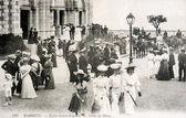 Old postcard of Biarritz, Church Sainte Eugenie — Stock Photo