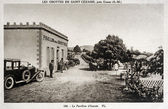 Old postcard of Caves Saint-Cezaire — Stock Photo