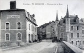 Old postcard of Uzerche, Avenue Station — Stock Photo
