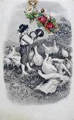 Eski kartpostal fantezi — Stok fotoğraf