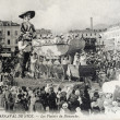Stock Photo: Old postcard of Nice Carnival, pleasures of Sunday