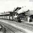 Old postcard of Lisieux, station — Foto Stock #37331933