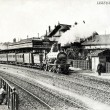 Old postcard of Lisieux, station — 图库照片 #37331933