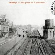 Old postcard of Chauny, station — Foto Stock #37331969