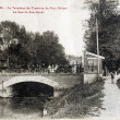 Old postcard of Troyes, terminus of tram bridge Hubert — Foto Stock #37332021