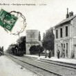 Old postcard of Savigny-en-Septaine, station — Foto Stock #37332077