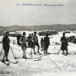 Old postcard of Bruyeres, group of skiers — 图库照片 #37332539