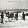 Old postcard of Bruyeres, group of skiers — Foto Stock #37332539