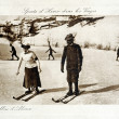 Old postcard Winter Sports in Vosges Ballon d'Alsace — 图库照片 #37332679