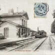Old postcard of Saint-Parres-les-Vaudes, station — 图库照片 #37333367
