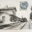 Old postcard of Saint-Parres-les-Vaudes, station — Foto Stock #37333367