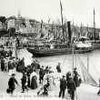 Old postcard of Trouville, set sail from Le Havre — Stock Photo
