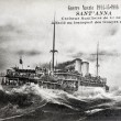 Old postcard of War 14, Sant'Anna, auxiliary cruiser senior — Stock Photo