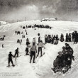 Old postcard of Luchon, Winter sports on plateau — Stockfoto #37333637