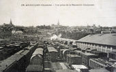 Old postcard of Angouleme, view taken from the bridge Chaigneau — Stock Photo