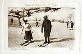 Old postcard Winter Sports in the Vosges the Ballon d'Alsace — Stock Photo