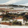 Stock Photo: Old postcard of Nimes, barracks