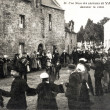 Stock Photo: Old postcard of Vannes, wedding