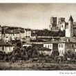Old postcard of Auch, view from the fields Matalin — Stock Photo #37594995
