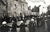 Old postcard of Vannes, a wedding — Photo