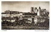 Old postcard of Auch, view from the fields Matalin — Stock Photo