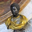 Bust of a black man in the castle of Versailles — Stock Photo