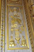Gilded with fine gold paneling castle of Versailles — Stock Photo
