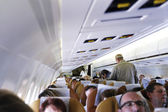 Within a commercial airliner — Stock Photo