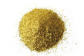 Glitter background placer gold — Stock Photo