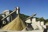 Gravel pit operation — Stock Photo
