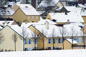 Residential area in winter — Stock Photo