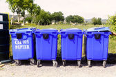 Recycling bins for paper and cardboard — Stock Photo