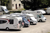 The motorhome parked — Stock Photo