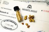 Mining authorization — Stock Photo
